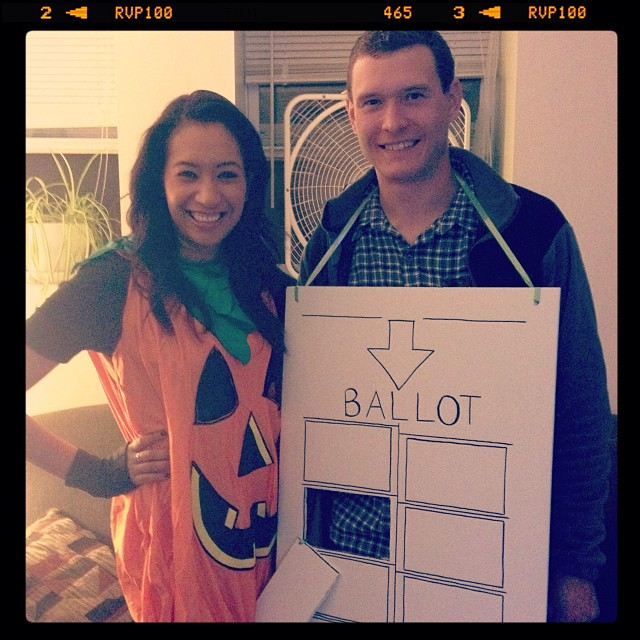 I believe this is a newlywed costume win.  sc 1 st  The Burtons - WordPress.com & Hey Chad Howu0027s It Hanging | The Burtons